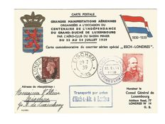 Luxembourg 1939/1947/1948 - 3 first flight covers