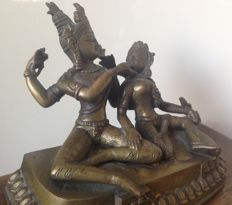 Bronze Shiva & Parvati - Nepal - second half 20th century