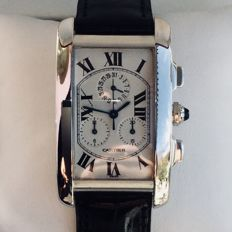 Cartier Tank Americaine Chronograph with perpetual calendar, ref. 2312 - Men's/unisex - 2000s