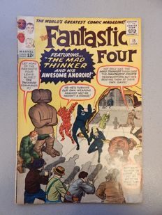 Marvel Comics - Fantastic Four #15 - With 1st appearance of Mad Thinker - 1x sc - (1963)