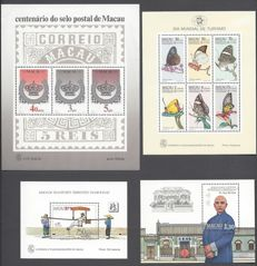 Macau 1984/1987 - Small sellection of sheets - Michel 2 , 3 , 5 & 7