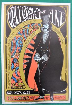 Psychedelic Jefferson Airplane 1966 Poster