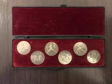 Russia - 6 commemorative coins from 1992 Barcelona Olympics