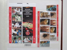 Belgium - Selection of Postage valid stamps, series, blocks, sheets and booklets in stock book