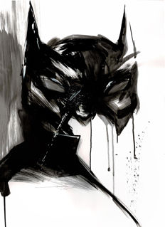 Original Acrylic Painting - Batman By Street Artist ANTISTATIK