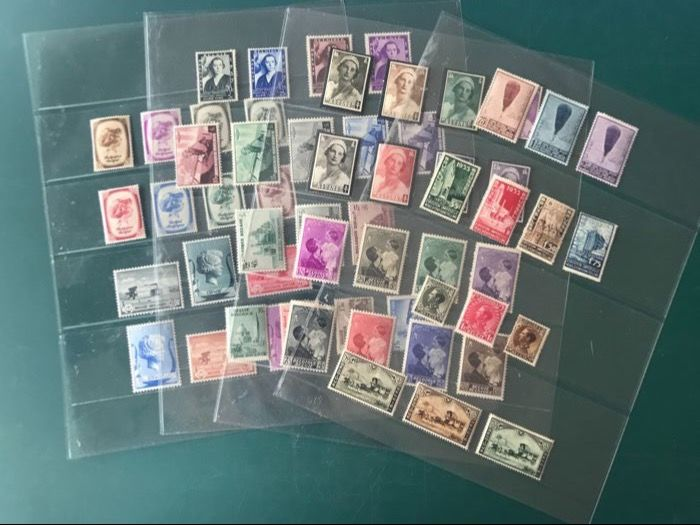 Belgium 1932/1940 - Selection of 12 series with, among others, Ballon Piccard - OBP 353/537
