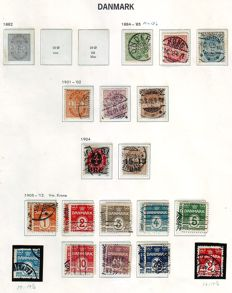 Denmark 1885/1915 - stamp collection on Album Pages