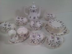 "Royal Albert, porcelain coffee set, ""Sweet Violets"" decoration"