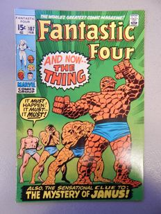 Marvel Comics - Fantastic Four #107 - with 1st app of Nega-Man (Richard Janus - 1x sc - (1971)