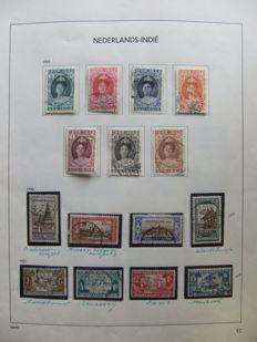 Dutch East Indies 1921/1948 - Collection on album sheets