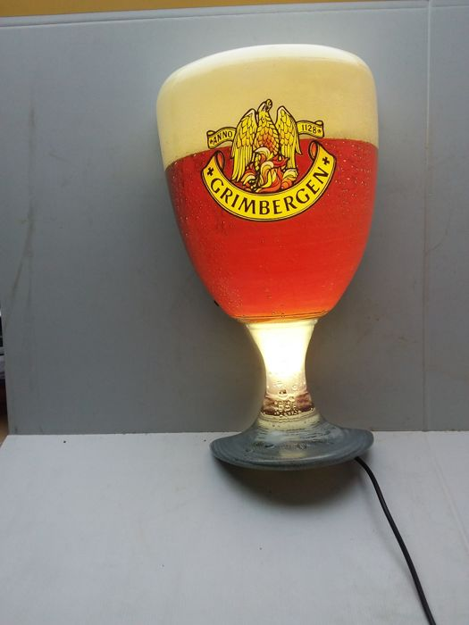 Illuminated advertising Grimbergen. 1995