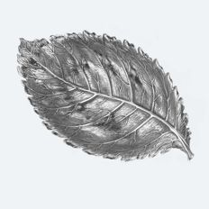 Buccellati, Fogliargento Collection - Rose Leaf (silver 925/1000), Italy, 20th century