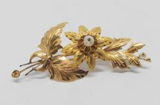 Antique yellow gold brooch from the late 19th/ early 20th century