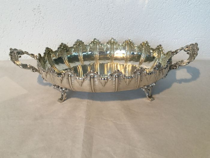 Silver cookie or fruit bowl, centrepiece, G. Hermeling, Germany, circa 1890-1900