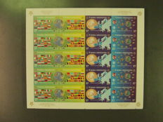 Bosnia and Herzegovina - sheetlet of 100 pieces - 419/422