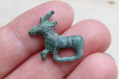 Ancient bronze zoomorphic stripe - 20 mm
