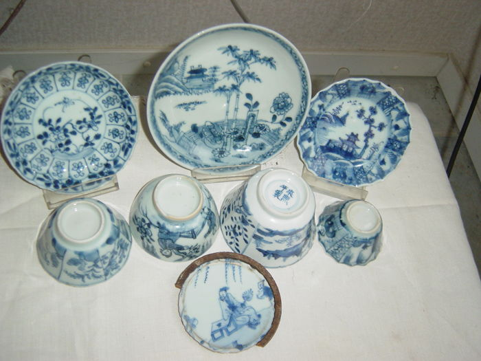 One lot export porcelain Kangxi Qianlong - China - 18th / 19th century