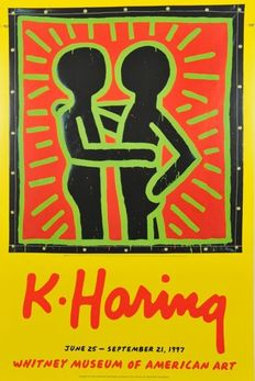 Keith Haring (after) - Dolphins - Retrospect - Untitled