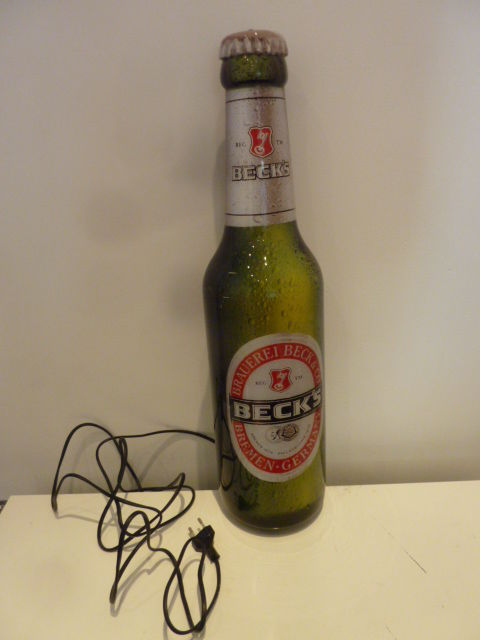 Lighting in the form of a bottle of beer - 2000 - Beck's Beer