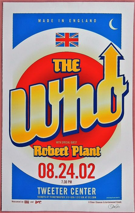 The Who Led Zeppelin  Robert Plant 2002 Poster