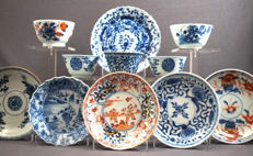 Large collection cups and dishes - China - 18th century