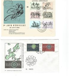 Luxembourg 1944/1961 - Collection of 18 Different First Day Covers