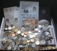 World - Lot various coins (ca. 1500 pcs) - including silver