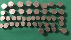 Italy, Kingdom - Lot of 2.5 kg of coins - 1 lira, 2 lire, 20 cent. and 50 cent. - V. Em.  III