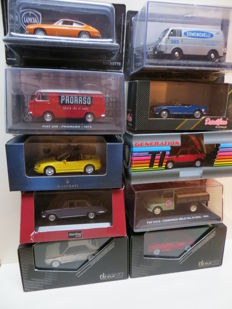 Various - Scale 1/43 - Lot with 10 Italian car models: Lancia, Fiat, Alfa Romeo, Autobianchi & Maserati