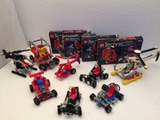 Lego Technic - 8845 + 8640 + 1972 + 8832 (2x) + 8024 (2x) and 8825 - Dune Buggy, Polar Copter, Go Kart, Roadster (2x), Universal Set (2x) and Night Chopper