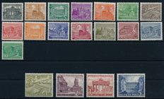 "Berlin - 1949 - ""Buildings of Berlin"", 1 Pf. Until 5 mark"", Michel 42 - 60"
