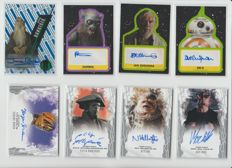 Star Wars - TOPPS - 8x official authentic autograph cards - Masterwork, Journey to The Last Jedi, High Tek - two limited and numbered