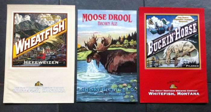 Whitefish Montana Brewery - three posters -