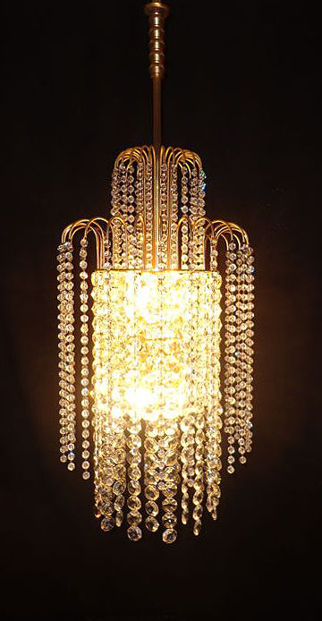 Exclusive, Swarovski-style, crystal waterfall chandelier, 2nd half of the 20th century