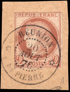 French Colonies 1872–1877 - Ceres 2 c.  - Yvert #15