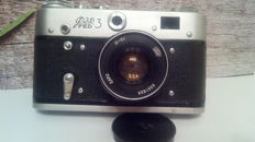 FED 3 (Leica replica) and lens Industar 61 with an original case
