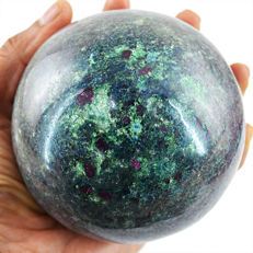 "Patterned Ruby in Kyanite ""healing Sphere"" Ball - 105 mm - 1563 gm"