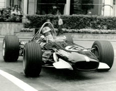 1969 Monaco Grand Prix  Piers Courage Brabham   Michael Hewett original photograph