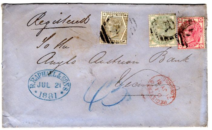 Great Britain 1881 - Registered Cover
