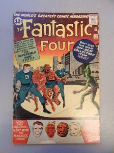 Marvel Comics - Fantastic Four #11 - With 1st appearance and origin of Impossible Man  - 1x sc - (1963)