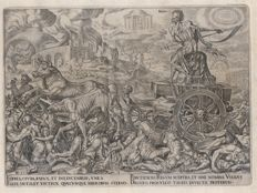 Maarten van Heemskerck (1498 - 1574) - The triumphs of Petrarch / The triumph of Death - Ca.1565