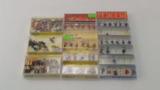 Noch/Preiser H0 - 16105/16106/16107/15898/15245 - Collection of 16 boxes with railway figures