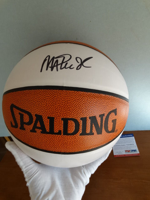 Magic Johnson - Original hand signed by Johnson official NBA Spalding Basketball + COA PSA