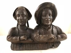 Large oak woodcarving - France - late 19th century