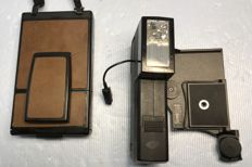 Polaroid SX-70 Land Camera ALPHA with original Polaroid Polatronic flash