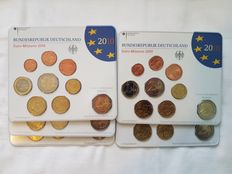 Germany, 5 Mints, 2010, A, D, F, G, J - With €2 Bremen - 45 coins