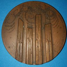 Rare medal in bronze of the Catalan Resistance