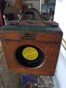 Antique coulet excelsoir  pigeon racing timer box firma van bael