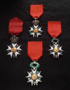 Napoleon 1st - Beautiful set of Knight's cross of the order of the Legion of honour