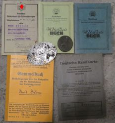 Reich Labour Service ID, Identification Tag and Badge, WWII / WW II 1933-1944